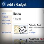 Blogger Widget screen shot
