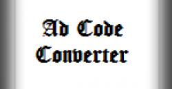 Blogger Adsense Ad Code Converter