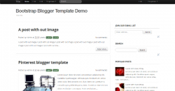 Bootstrap Blogger Template - Responsive Template