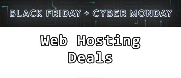 black friday web hosting banner