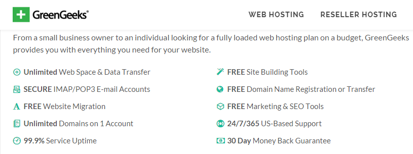 greengeeks web hosting deals