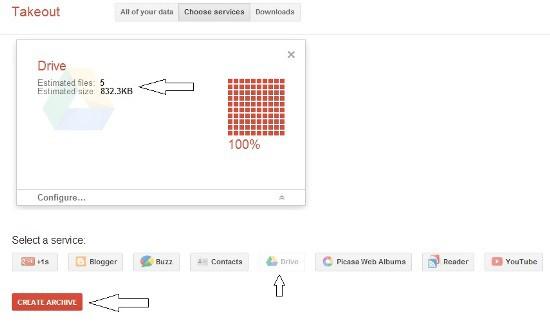 Google Takeout Google Drive